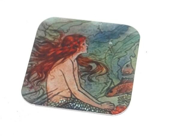 Metal Mermaid Charm Pendant Handmade