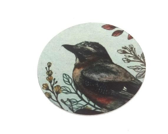 Metal Bird Pendant Handmade