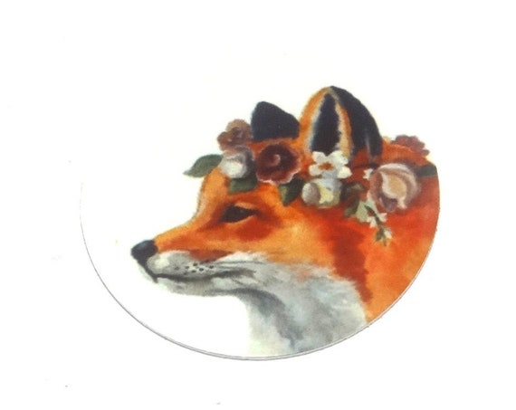 Metal Fox Charm Pendant Handmade