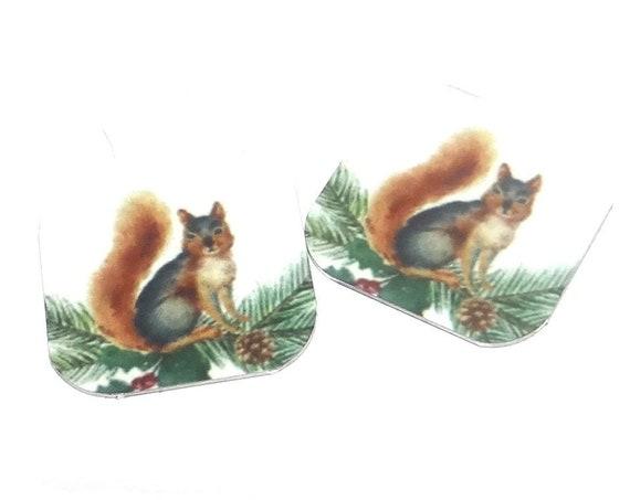 "Metal Squirrel Earring Charms Handmade 16mm 5/8"" MC2-3"