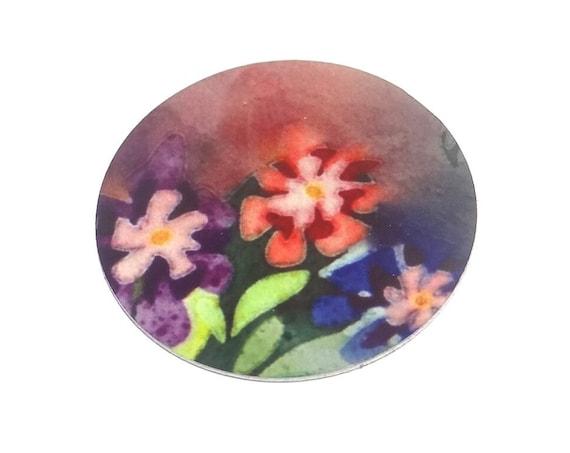 "Metal Flower Charm Pendant Handmade 1"" 25mm MC6-3"