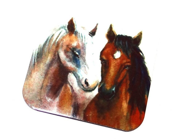 "Metal Horse Charm Pendant Handmade 25mm 1"" Square MSQ4-1"
