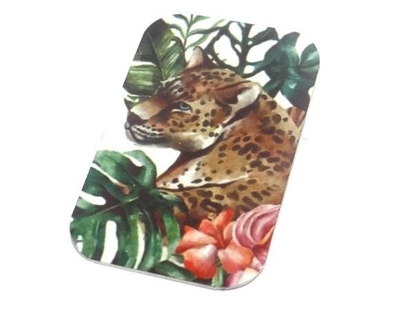 Small Leopard Pendant Handmade 32mm