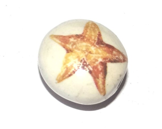 Ceramic Starfish Bead Porcelain Handmade