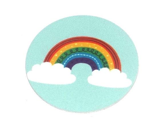 Metal Rainbow Charm Pendant Handmade