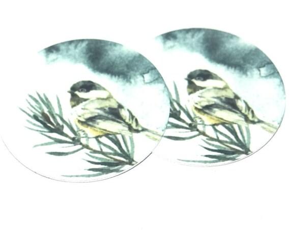 Metal Bird Charms Handmade Winter Fir Tree