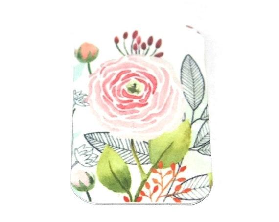 Metal Floral Blossom Pink Pendant Handmade Roses