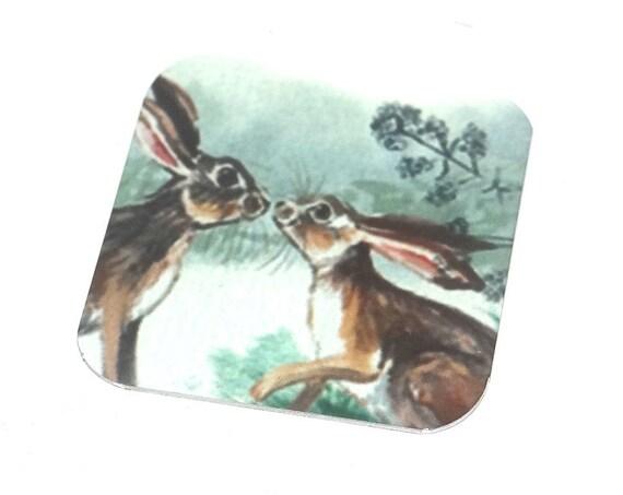 Metal Hare Charm Pendant Handmade