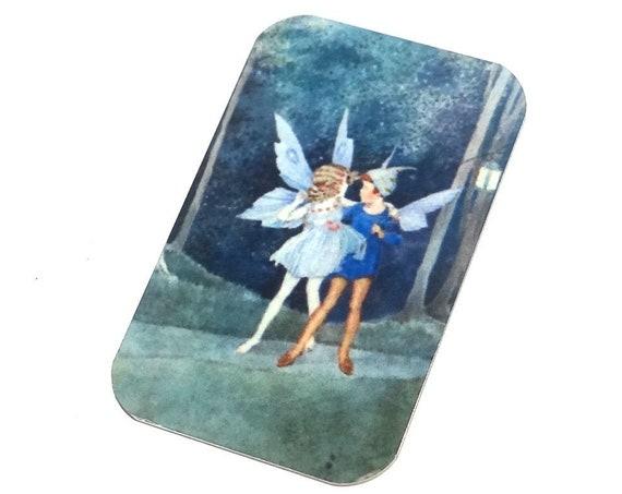 "Small Metal Fairy Pendant Handmade Magic 32mm 1.25"" MSR5-1"