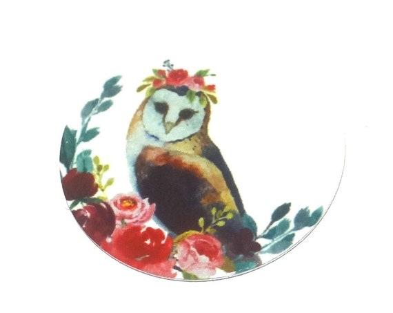 Metal Owl Charm Pendant Handmade