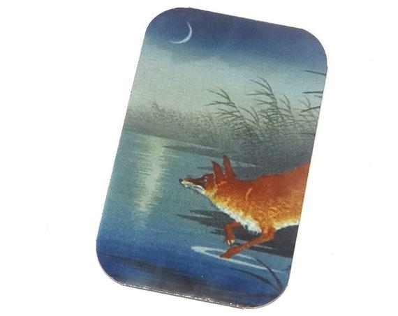 "Small Metal Fox Lake Forest Pendant Handmade 32mm 1.25"" MSR5-2"