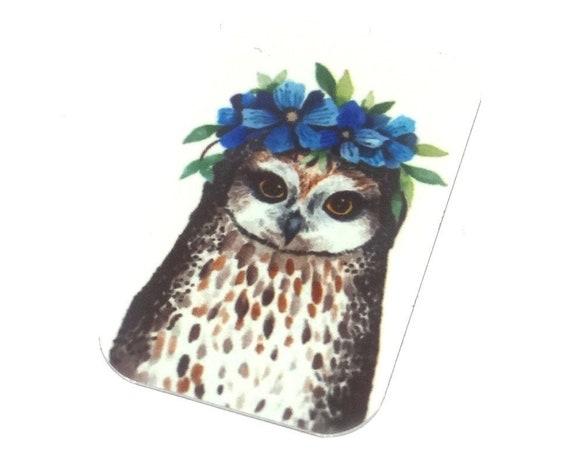 Metal Owl Pendant Handmade