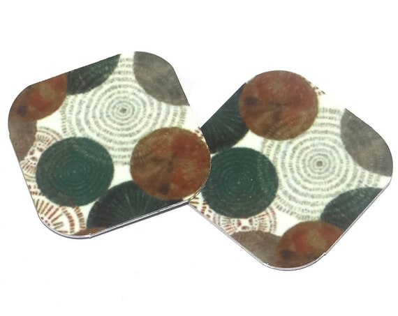 "Metal Patterned Earring Charms Handmade 16mm 5/8"" MC2-1"