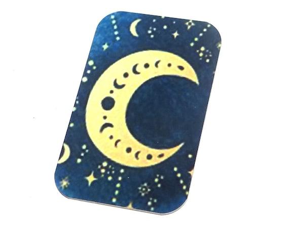 "Small Metal Moon Pendant Handmade 32mm 1.25"" MSR5-1"