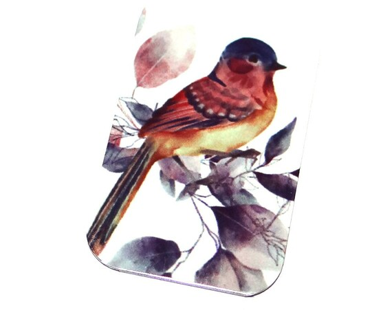 "Small Metal Bird Pendant Handmade 32mm 1.25"" MSR5-3"
