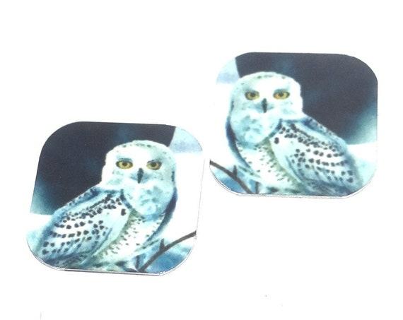 "Metal Owl Earring Charms Handmade 16mm 5/8"" MC1-2"
