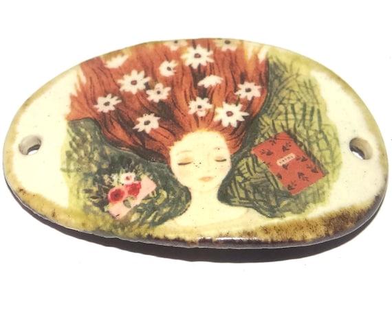 Ceramic Dreamer Bracelet Bar Handmade Cuff Porcelain