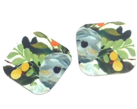 "Metal Floral Flower Earring Charms Handmade 16mm 5/8"" MC1-1"