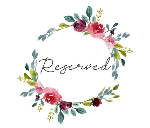 RESERVED FOR COLLEEN