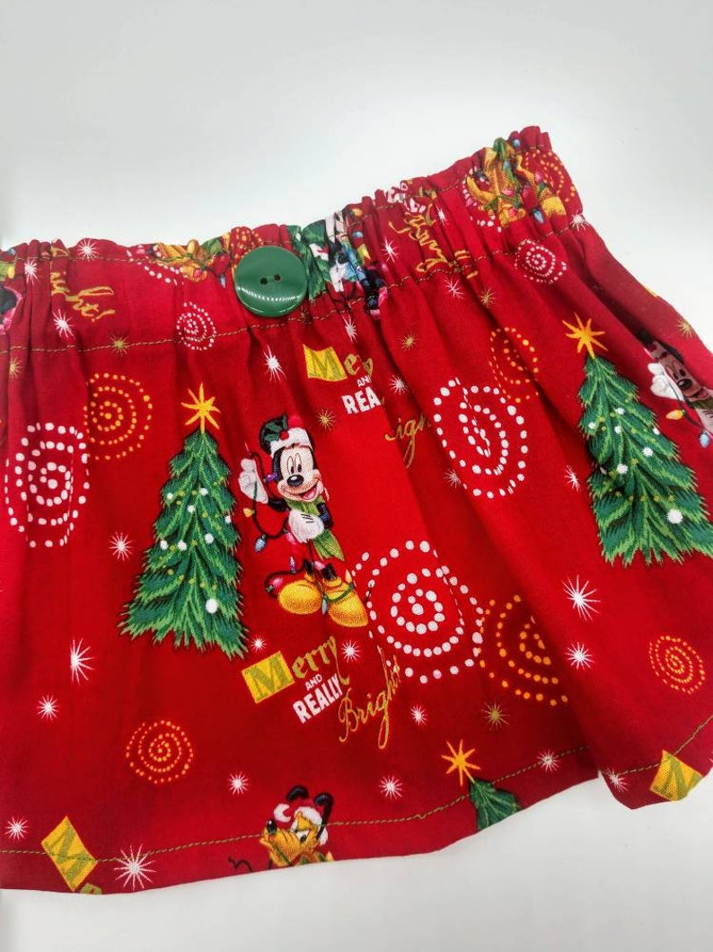 Disney World Christmas Outfit Girl/'s Size 12 Months Baby/'s 1st Christmas Disney Christmas Skirt Mickey/'s Very Merry Christmas Party
