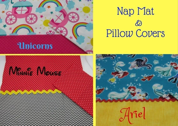 Nap Mat Cover Sets Unicorn Minnie Mouse