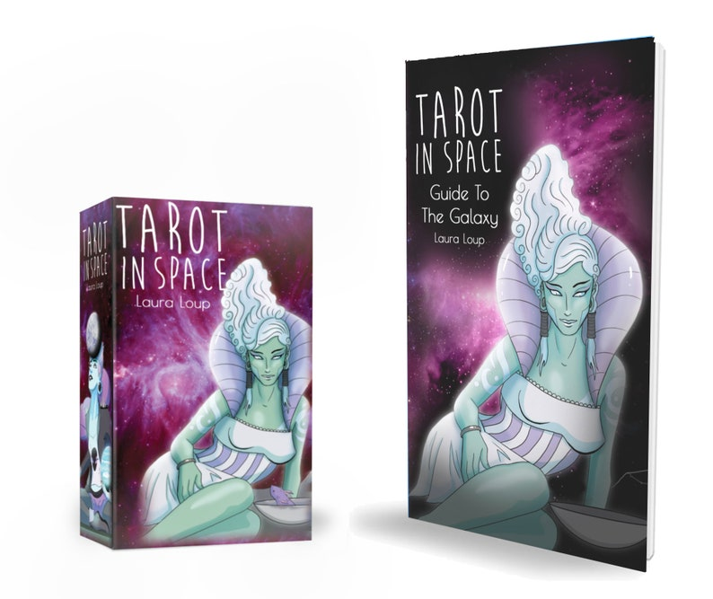 Tarot in Space with Guidebook  Indie 78 Card Moon Tarot Deck image 0