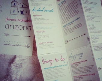 custom guest guide for your wedding city