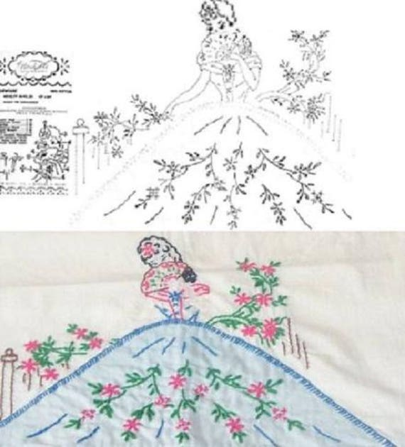 Southern Belle Pillowcase Applique Embroidery Pattern Etsy