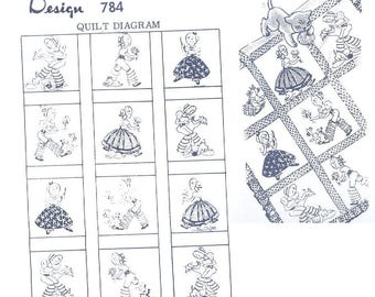 Young Southern Belle with pantaloons quilt pattern mo784