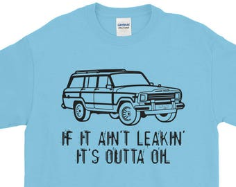 bfdea528429 Jeep Grand Wagoneer Tshirt Leaking Oil Full Size Jeep Tee T Shirt TShirt  Short Sleeve T-Shirt 4x4 Jeepster Jeep Rally Gift Funny Off Road