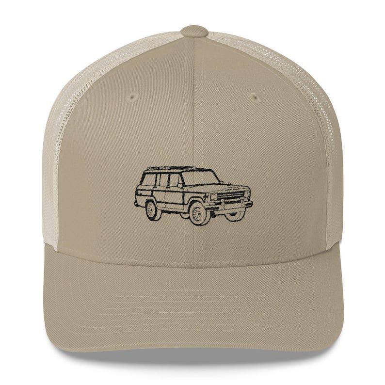 e951cfbcfd7 Jeep Grand Wagoneer Hat Trucker Hat Cap Retro Look Wagon Woody