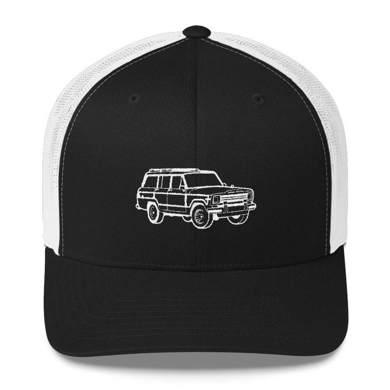 d23e0e3c7e98c Full Size Jeep Hat Jeep Grand Wagoneer Hat Trucker Hat Cap