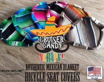 Authentic Serape' Bicycle Seat Cover