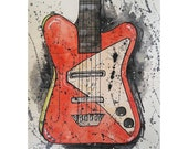 Danelectro Electric Guitar Original Painting