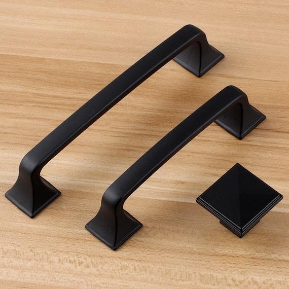 5 Black Dresser Handle Pull Knob Drawer Pulls Handles  Silver Kitchen Cabinet Pull Handle Knobs Furniture Hardware WM672
