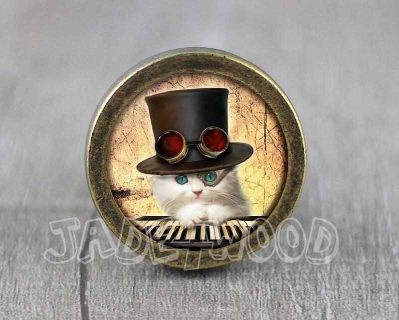 Steampunk Katze Schrank Kommode Knöpfe ziehen / Pull Kommode / | Etsy