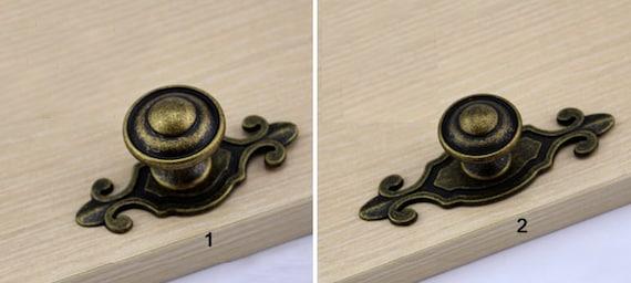 Vintage Bronze Shabby Chic Cabinet Knob Dresser Knobs / Retro   Etsy