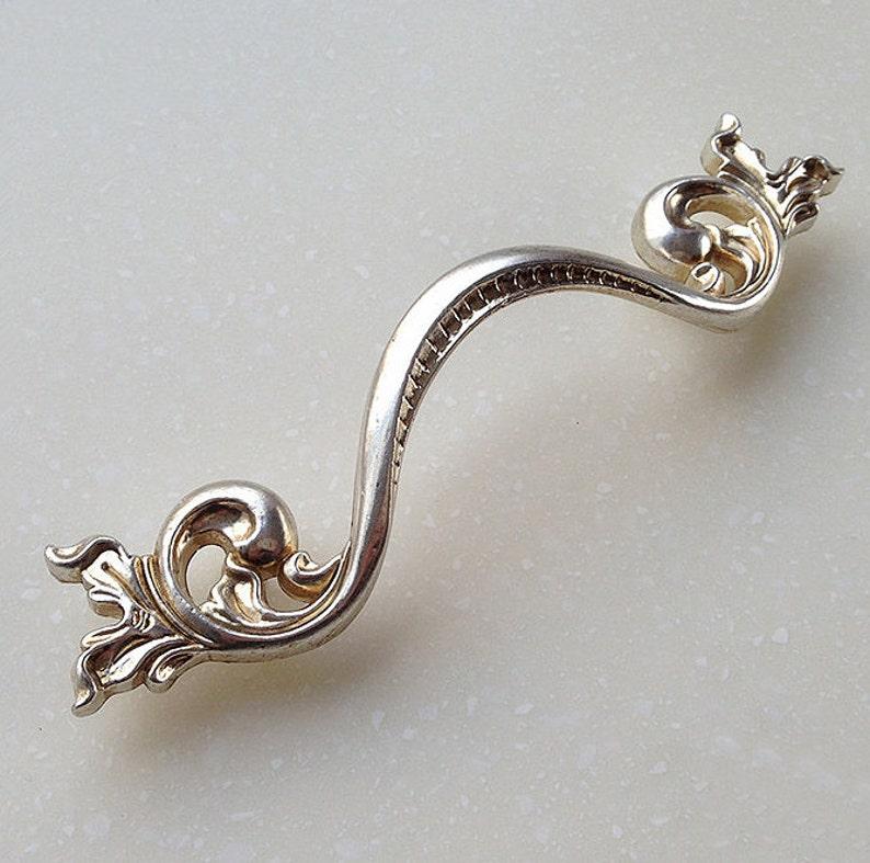 3.75 Flower Handle Dresser Drawer Pulls Handles  Antique Silver Kitchen Cabinet Pull Handle Knobs Furniture Hardware LJ062