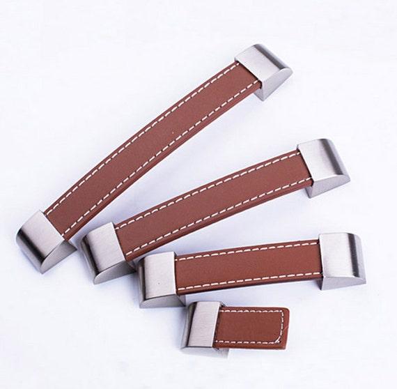 Braune Leder-Türgriffe für Schrank Kleiderschrank Schrank | Etsy
