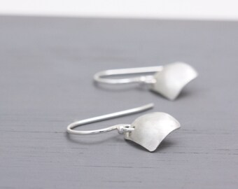 Small Earrings. Silver Earrings. Delicate Earrings. Sterling Silver Jewelry. Geometric Jewelry. Square Jewelry. Gift for Mum: SdiDsDvx.