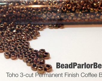 TOHO Hematite Glass Seed Beads 28 grams BP-451 Size 80 3-cut