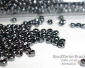 TOHO Hematite Glass Seed Beads - BP-451 - Size 12 0 3-cut - 28 grams