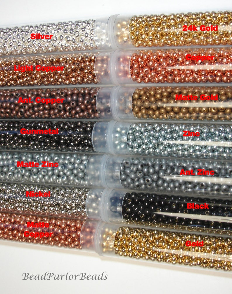 Matte Black Plated Metal Seed Beads Size 110-52 grams