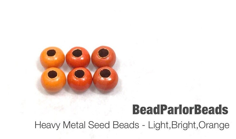 Light Orange Plated Metal Seed Beads Size 80-50 grams