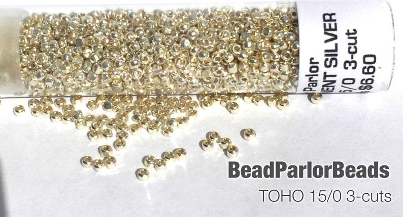 Size 150  3-cut BP-P470 Toho PF558 10 grams TOHO Permanent Finish SILVER Glass Seed Beads