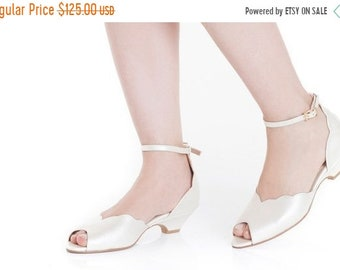 b6d2e4ce3 Smith Low Heeled Ivory Vegan Bridal Sandal