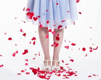 Shila Vegan Ivory Bridal Vintage Inspired Kitten Heel, Comfortable Low Heel Wedding Shoe
