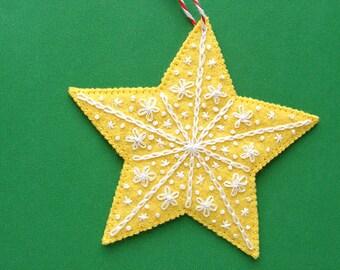 Star - felt ornament pattern