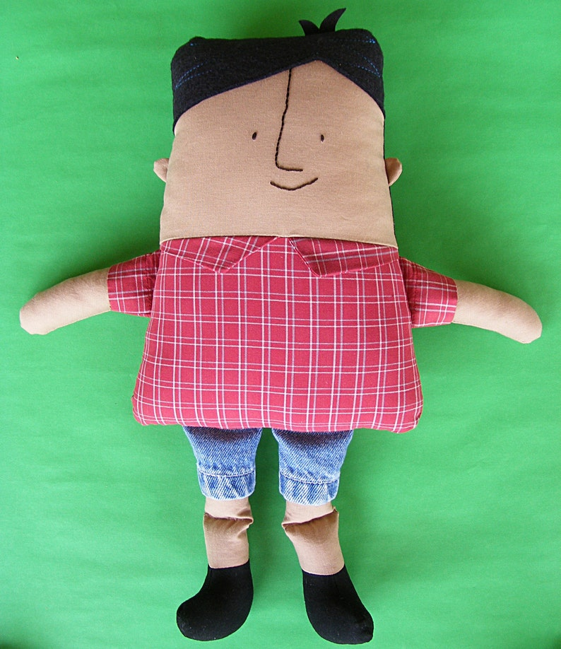 Dad-like boy doll sewing pattern from Shiny Happy World