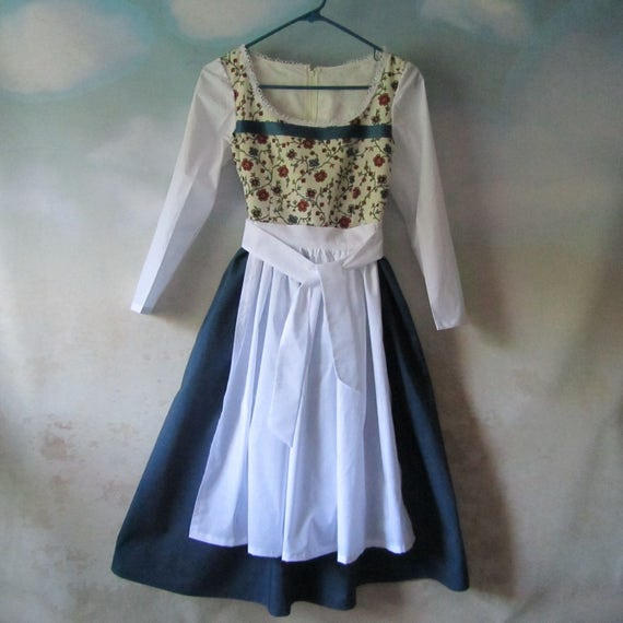 ON SALE - Girl s Belle s Provincial Blue Dress, Dirndl   Apron  Peasant,  Heidi, Gretel, Liesl - All Cotton, Sizes 5 - 14, Ready To Ship 01d46d12e7